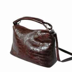 Кожаная женская сумка KSK 3282 коричневый крок