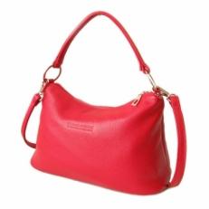 Маленькая кожаная сумка KSK 3382 красная