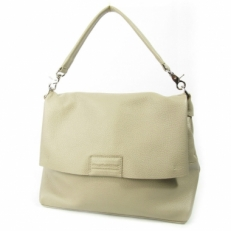 Большая сумка женская из светлой кожи 4076