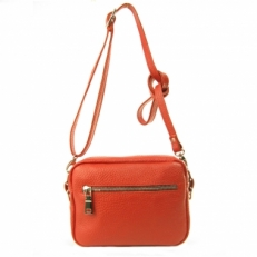 Красная сумка с длинным ремнем 7011 фото-2