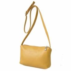 Мини сумочка женская желтая на тонком ремешке 3506