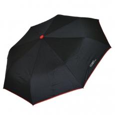 Черный зонт с красной окантовкой 30017