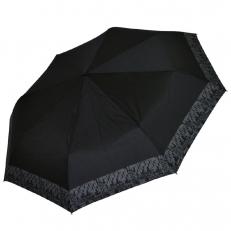Женский складной зонт черного цвета 4FD