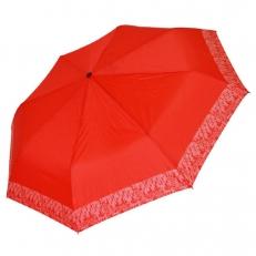 Женский складной зонт красный 4FD