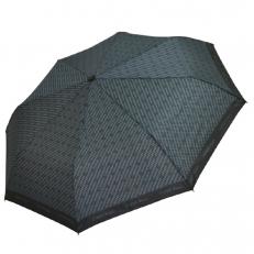 Зонт серый с черным геометрическим рисунком 4FU