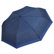 Зонт синий с черным геометрическим рисунком 4FU