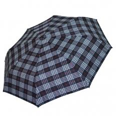 Классический зонт черный в белую клетку 542F