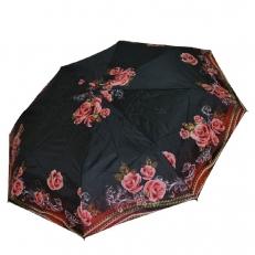 Зонт женский с терракотовыми розами 542F