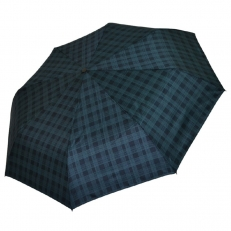 Унивесральный зонт темно-зеленый в клетку 542F