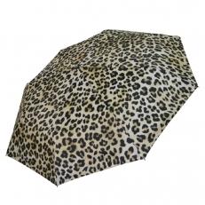 Белый зонт леопардовый принт 542F