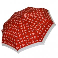 """Красный зонт с принтом буквы """"F"""" 6014"""