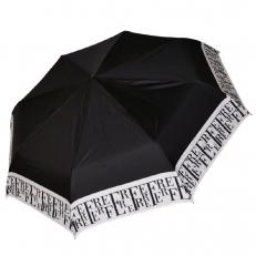 Черно-белый зонт женский зонт 30017