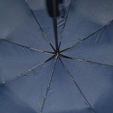 Зонт однотоннный синего цвета 9D фото-2