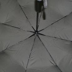 Мужской зонт автомат серый 9D фото-2