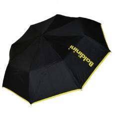 Женский зонт черный с желтой надписью 30015