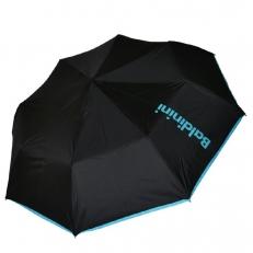 Женский зонт черный с голубым 30015