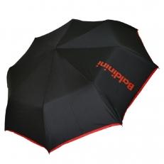 Женский зонт черный с красным 30015