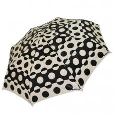 Женский зонт черно-белый с кругами