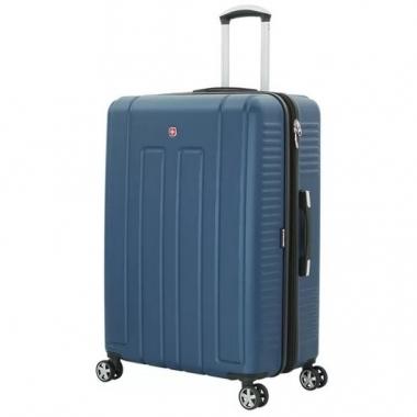 Фото Синий пластиковый чемодан Vaud