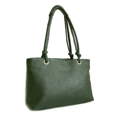Фото Кожаная женская сумка KSK 3101 зеленая