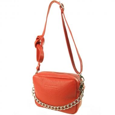 Фото Красная сумка с длинным ремнем 7011