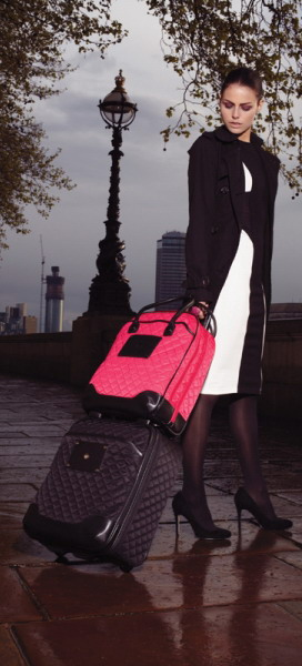 Womens suitcase on wheels