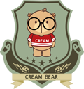 logo cream bear