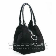 Сумка женская KSK 3262 черная замша