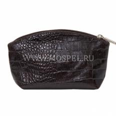 Косметичка 1214 коричневая Крок
