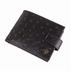 Портмоне мужское Vasheron 9673 Ostrich Black