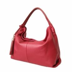 Мягкая женская сумка KSK 3091 красная