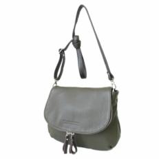 Кожаная сумка через плечо KSK 401.4 оливка